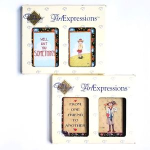 2 Mary Engelbreit Art Expressions Bifold Plaques
